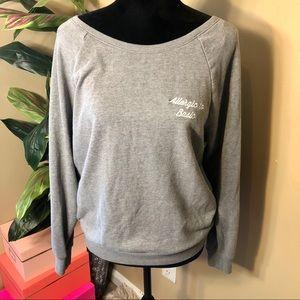 EUC VS Pink allergic to basic sweatshirt